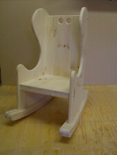 BEAUTIFUL CHILDRENS HAMDMADE CRAFTED PINE ROCKING CHAIR AGE 2-4 YEARS