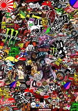Sticker Bomb JDM Japan Euro Drift Vinyl Decal Honda Nissan Jap Euro Dub