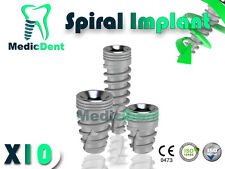 x10 Dental Implant Spiral Hex Internal Sterilized Titanium Dentist Lab