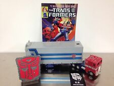 Transformers 25th Anniversary G1 Reissue Optimus Prime 100% Complete