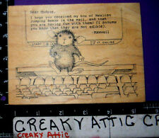 HOUSE MOUSE MUDPIE .COM RUBBER STAMP STAMPA ROSA 257 COMPUTER MEXICAN JUMPING