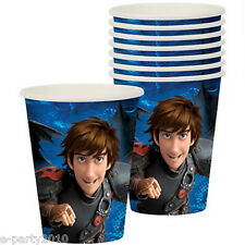 HOW TO TRAIN YOUR DRAGON 2 9oz PAPER CUPS (8) ~ Birthday Party Supplies Beverage