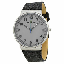 PROMOTION* SKAGEN MEN'S GREY BELT STRAP SLIM STYLISH DESIGNER WATCH SKW6097
