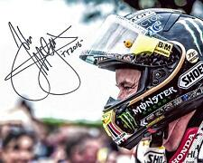 John Mcguinness - 2016 Isle of Man TT firmato 16 x 12 Senior Corsa Casco PICTURE