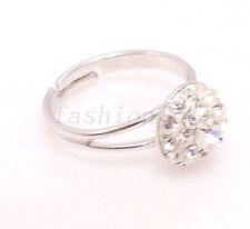 fashion1uk WeißGold Vergoldet Labor erstellt Diamant Solitär Ring Gratis Sz