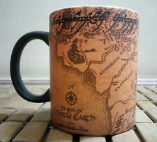 MAGIC Lord of the Rings Middle Earth Great MAP with magic mug great gift present