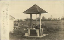 Melvin Village NH The Old Oaken Bucket Well c1910 Real Photo Postcard #1