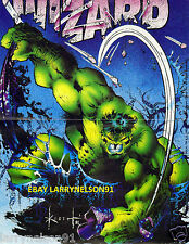 INCREDIBLE HULK POSTER MARVEL COMICS RAMPAGE DEATH TO MERLIN SMASH SAM KIETH OOP