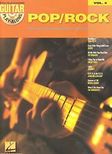 POP/ROCK GUITAR PLAY-ALONG VOL. 4 - SONGBOOK/TAB/CD