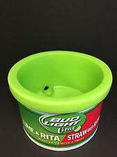 Bud Light Lime Ice Cube Cooler Bucket Heavy Plastic Great Color USA NEW & F/S