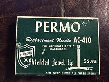 Permo Phonograph Needle AC-410 Stylus for GE RPX-047 & RPX-405 Original 1950s