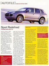 2003 Porsche Cayenne Turbo Original Car Review Print Article J623