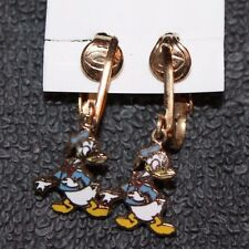 NICE RARE VINTAGE DISNEY DONALD DUCK CLIP ON EARRINGS