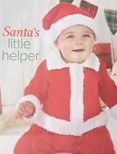Santa's Little Helper, Christmas Jacket And Hat ( 0- 2 Yrs) Knitting Pattern