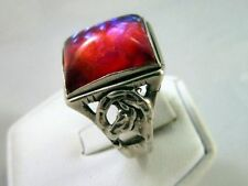 1 of a Kind Gorgeous Vintage Dragons Breath Ring W/ Horseshoe & Horsehead Design