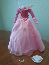 Disney Sleeping Beauty Pink Ball Gown Dress & Necklace Replacement Dress Only