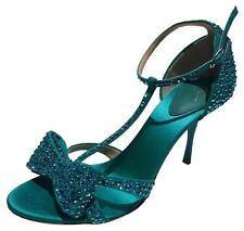 New! Retail $1,420 Giuseppe Zanotti Rhinestone T-strap Heels (Size: 38.5)