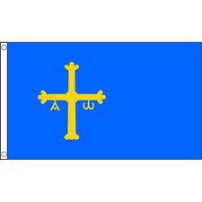ASTURIUS FLAGGE 5X3 BLAU MIT GELB CREST - SPANIEN SPANISCH PROVENCE FLAGGE BLAU