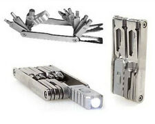 SWISS+TECH Stainless Steel MEGA-MAX 15 In 1 Folding Multi-Tool LED Light BONUS