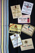 Vintage 'vinos franceses de un hecho-la-Fontaine bodega Francia década de 1960 Lino toalla de té