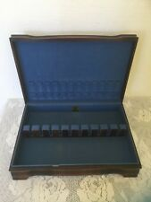 Vtg 1847 Rogers Bros Wooden Wood Silverware Flatware Chest Box Case Only