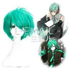 VOCALOID Men's mikuo Short Green Full Wig Cosplay Party Wig Hair