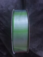Wire Edged 1.5in Green/white Spectrum Ribbon 5 Metres Floral Crafts Wedding Bows