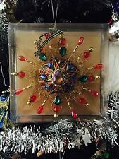 MacKenzie-Childs christmas tree decoration Jeweled Tartan Snowflake Ornament
