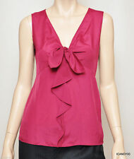 Nwt $158 Tahari ROSEANNE Tunic Top Tank Shirt Blouse Cami Hot Pink S