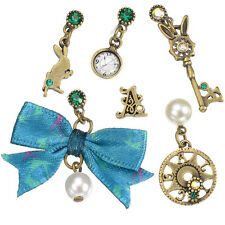 New Disney Store H.NAOTO Alice in wonderland pierced earrings time of journey FS