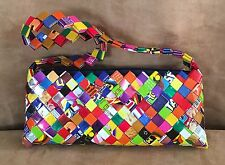 Magazine page Candy / Gum Wrapper handmade purse womens handbag hipster