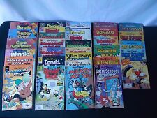 Huge Lot Of 31 Walt Disney Comic Books 1970s To 1990s Donald Duck Mickey Mouse