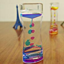 Floating Color Timer Liquid Motion Visual Hourglass Timer Clock Slim Oil Glass