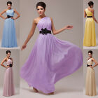 Sexy One Shoulder Long Formal Dress Bridesmaid Prom Cocktail Evening Party 6-20