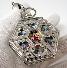 "MICKEY MOUSE,Manual Wind ""Disneyland"" Character,Hexagon POCKET WATCH,615"