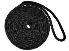 "1/2"" x 30´ BLACK PREMIUM DOUBLE BRAID NYLON BOAT DOCK LINE - FIVE OCEANS"