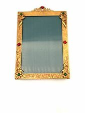 GLORIOUS ANTIQUE 1920's  JEWELED  PICTURE FRAME