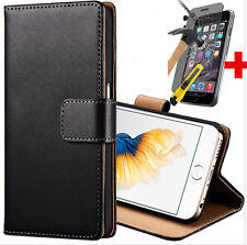 Wallet Style Cover Slim Leather Case For iPhone 5 5S Free Tempered Glass