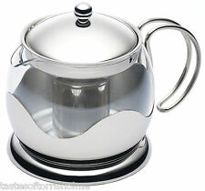 Kitchen Craft Le 'Xpress Large Retro Glass/Stainless Steel Teapot Infuser 900ml