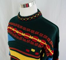 KALAROO AUSTRALIA LONG SLEEVE THICK KNIT ABSTRACT SWEATER, COTTON SIZE LARGE,F59