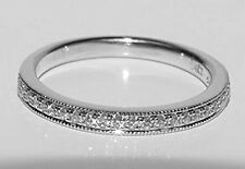 LOVE VERA WONG 14K White Gold Diamond Ring Semi - Eternity Wedding Band Size 6.5