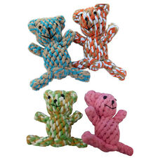 Pet Bear Dog Puppy Dental Floss Tough Rope Chew Toy Rondam Color