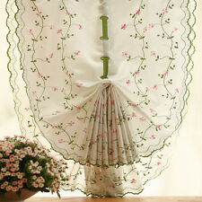 Window Kitchen Bathroom Lifting Roll Up Rome Curtain Screen Embroidered fad