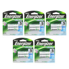 5 Pack Energizer Rechargeable Power Plus AA 2300 mAh Batterie 2 Ea =10 Batteries