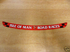Isla De Man Carreras De Carretera-TT Visera DECAL STICKER-Rojo