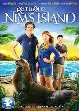 Return to Nim's Island 2013 PG movie, new Blu-ray + DVD wildlife, animals, drama