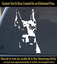 Doberman 6 inch vinyl decal pet dog lovers animal sticker car truck home decor
