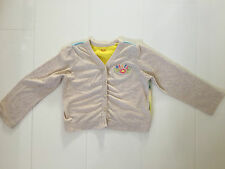 OILILY JERSEY COTTON CARDIGAN IN OATMEAL WITH HORSE & CART BACK DESIGN–2 YR 92CM