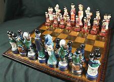 Movie Star Chess Set - W C Fields, M West, Chaplin, Laurel & Hardy, Marx Brother