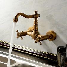 maniglie ottone antico rubinetto della cucina canna girevole Due fori Mixert